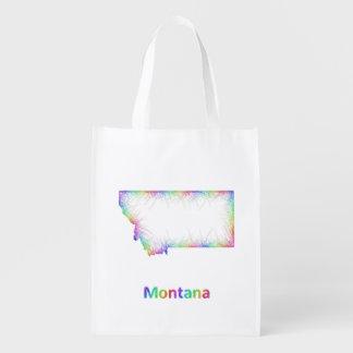 虹のモンタナの地図 エコバッグ