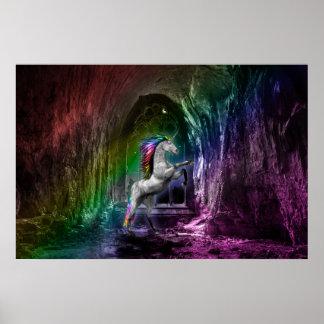 虹のユニコーンポスター ポスター
