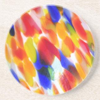 虹のランプの笠 コースター