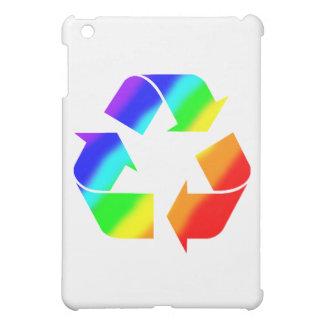 虹のリサイクルの印 iPad MINIカバー
