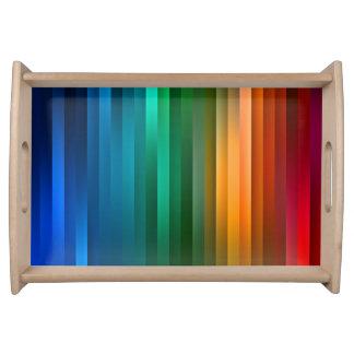 虹のリボンはサービングの皿を縞で飾ります トレー