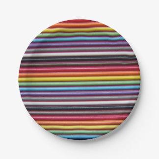 虹のリボン・ケーブルの紙皿 ペーパープレート