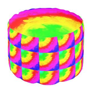 虹のリングの抽象芸術2のラウンドパフ プーフ