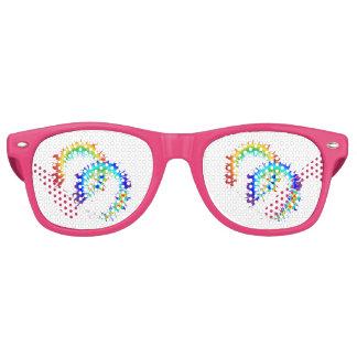虹のリングや輪 レトロサングラス
