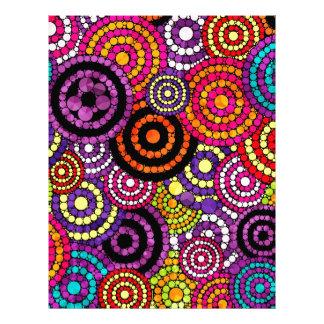 虹のレトロの抽象芸術パターン レターヘッド