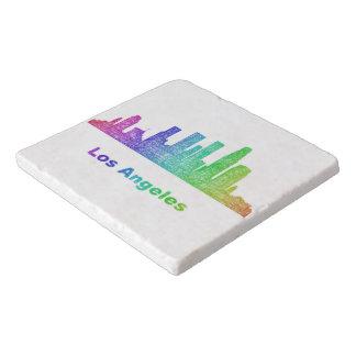 虹のロサンゼルスのスカイライン トリベット