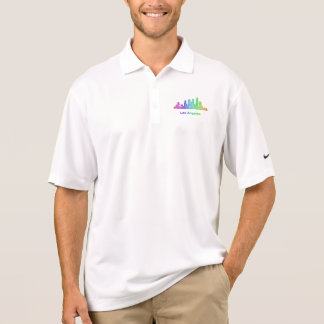 虹のロサンゼルスのスカイライン ポロシャツ