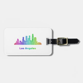 虹のロサンゼルスのスカイライン ラゲッジタグ