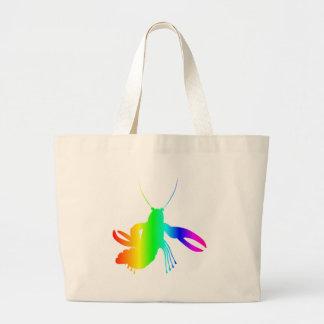 虹のロブスター ラージトートバッグ