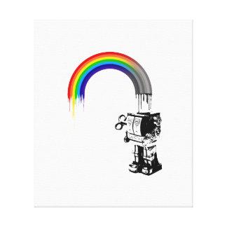 虹のロボット-キャンバス キャンバスプリント