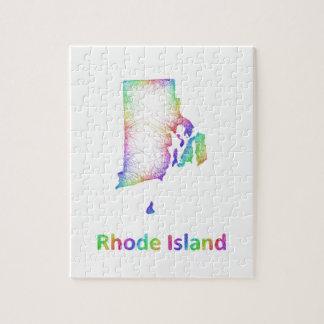 虹のロードアイランドの地図 ジグソーパズル