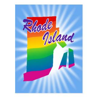 虹のロードアイランド州 ポストカード