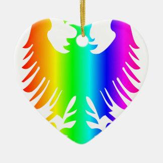 虹のワシ セラミックオーナメント