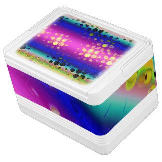 虹の万華鏡のように千変万化するパターンの点々のあるな破烈パターン IGLOOクーラーボックス