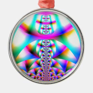 虹の万華鏡のように千変万化するパターン メタルオーナメント