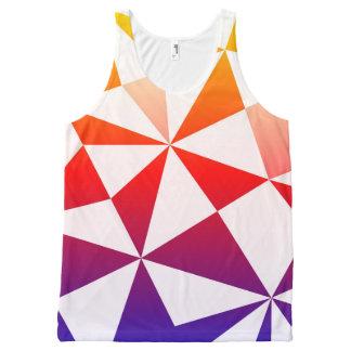 虹の三角形のデザイン オールオーバープリントタンクトップ
