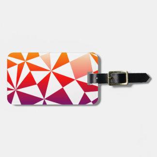 虹の三角形のデザイン ラゲッジタグ