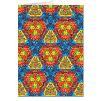 虹の三角形の万華鏡のように千変万化するパターン カード