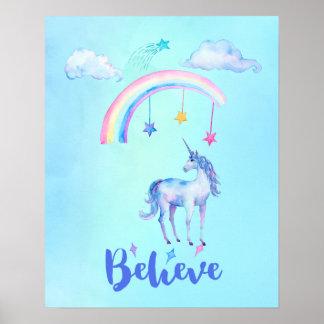虹の下でユニコーンと信じて下さい ポスター