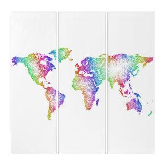 虹の世界地図 トリプティカ