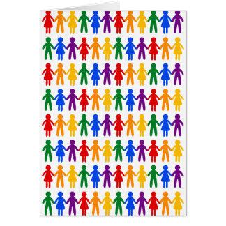 虹の人々パターン カード