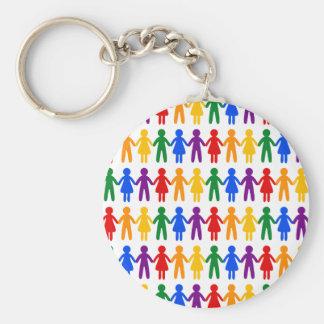 虹の人々パターン キーホルダー