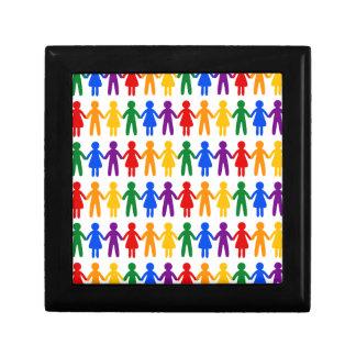 虹の人々パターン ギフトボックス