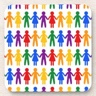 虹の人々パターン コースター