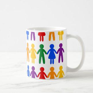 虹の人々パターン コーヒーマグカップ