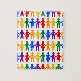 虹の人々パターン ジグソーパズル