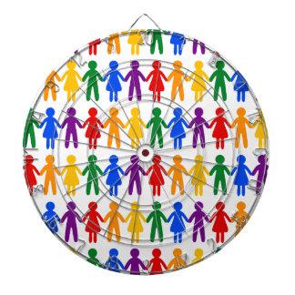虹の人々パターン ダーツボード