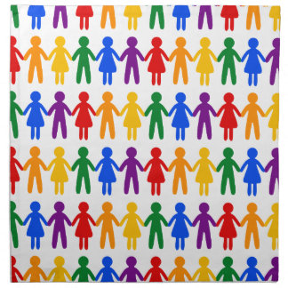 虹の人々パターン ナプキンクロス