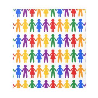 虹の人々パターン ノートパッド