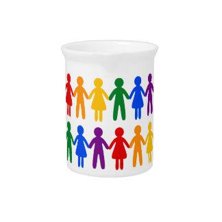 虹の人々パターン ピッチャー
