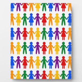 虹の人々パターン フォトプラーク