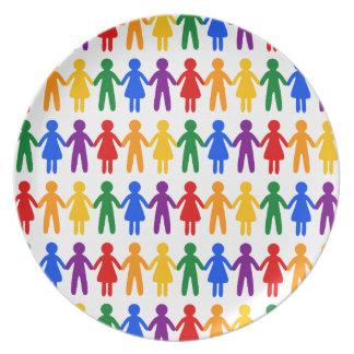 虹の人々パターン プレート