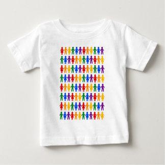 虹の人々パターン ベビーTシャツ