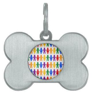 虹の人々パターン ペットネームタグ