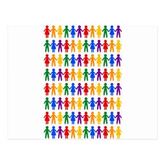 虹の人々パターン ポストカード