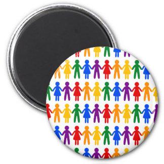 虹の人々パターン マグネット