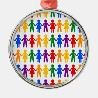 虹の人々パターン メタルオーナメント