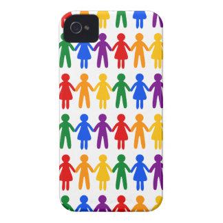 虹の人々パターン Case-Mate iPhone 4 ケース