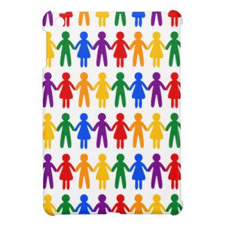 虹の人々パターン iPad MINI カバー