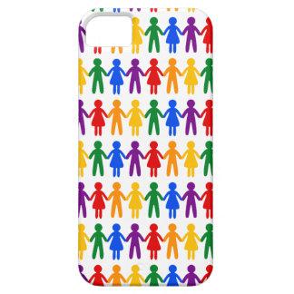 虹の人々パターン iPhone SE/5/5s ケース