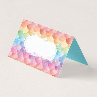 虹の人魚の水彩画の座席表 名刺