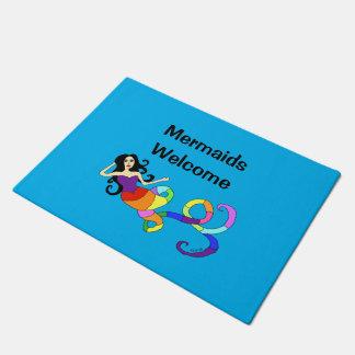 虹の人魚-人魚の歓迎 ドアマット