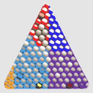 虹の低下: カラフルなドット・パターン 三角形シール