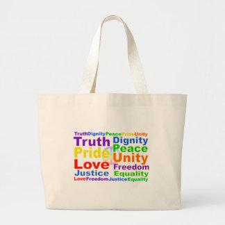 虹の価値バッグ ラージトートバッグ