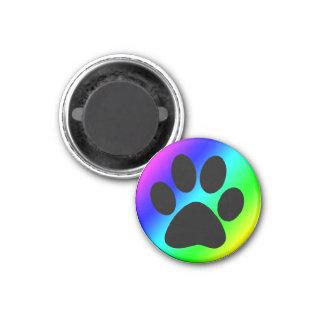 虹の円形犬Paw.png マグネット