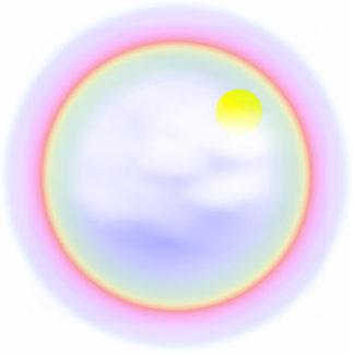 虹の円 写真彫刻キーホルダー